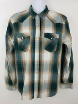 Levi's Western Pearl Snap Button Plaid Long Sleeve Cowboy Shirt Size L - $22.27