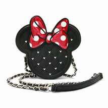 Disney Store Japan Loungefly Minnie Mouse Shoulder Bag Studded Chain Poc... - $147.51