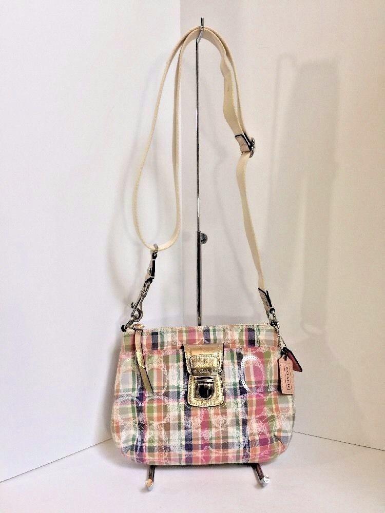 57. 57. Coach Poppy Crossbody Bag Pastels Pink Madras Swingpack 47592 B01 · Coach  Poppy Crossbody Bag Pastels ... d83e15c4d53c9