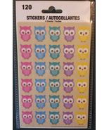 OWL STICKERS Bird Animal Pet 120 Sticker 4 Sheets NEW - $3.49