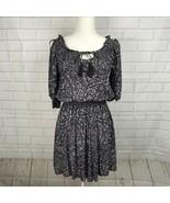American Eagle Dress Cold Shoulder Split Sleeve Paisley Gray Womens Size... - $17.77