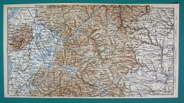 1884 MAP Baedeker - GERMANY Environs of Freiburg Hornberg Loffingen Elzach - $12.60