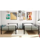 Dorm Room Twin Convertible Metal Bunk Bed Color: Black - $190.00