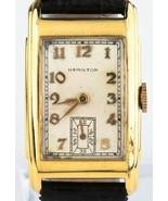 Hamilton Vintage 10k Gold Gefüllt Herren Automatik Uhr mit / Schwarz Led... - $496.02