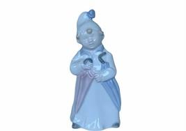 Meico Porcelain 10544 umbrella pom cap Antique Figurine vtg gift decor s... - $17.37