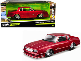 1986 CHEVROLET MONTE CARLO SS CANDY RED 1/24 DIECAST MODEL CAR BY MAISTO... - $34.95