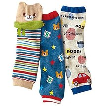 Cool Cartoon Baby Boy Leg Wamers Comfy Elastic Leg Guards for Height 27-39''