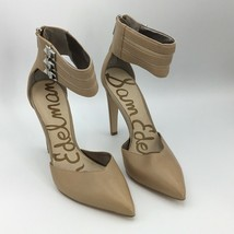 Sam Edelman Womens Beige Wide Ankle Strap Heels Size 6.5 M Stiletto Very Nice - $27.58