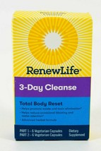 Renew Life 3-DAY CLEANSE 2-part Advanced Herbal Formula TOTAL BODY RESET... - $8.99
