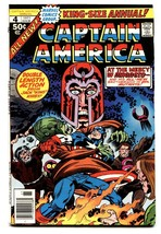 CAPTAIN AMERICA ANNUAL #4 comic book Jack Kirby-Magneto-1977 - $44.14