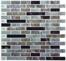 Peel and Stick Backsplash Tile Stick on Vinyl Wall Kitchen Bathroom Decor - $38.41