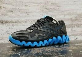 Womens Reebok Zigtech Running Shoes Sz 6 B Used V64499 Black Blue Athletic - $23.75