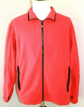WearGuard Size Large Red Full Zip Fleece Jacket Men's Career Job Work We... - $35.62