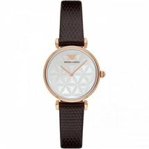 New! Emporio Armani Womens Retro Style Brown Leather Strap AR1990 Ladies Watch - $99.11