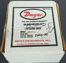 DWYER MAGNEHELIC 2000-00 PRESSURE GAUGE, 15PSIG, 0-0.25 INCHES OF WATER, 200000 image 1