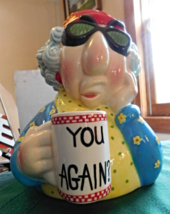 "Houston Harvest Old Lady Cookie Jar ""You Again?"" - $7.99"