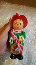 Vintage Christmas Tree Ornament • Drummer Boy w defects:  missing right ... - $5.93