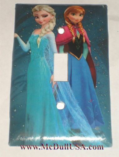 Frozen Elsa with Anna Light Switch Duplex Outlet Wall Cover Plate Home decor