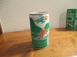 Colorado CO Turning 7up vintage pop soda metal can Skiing rockies - $10.99