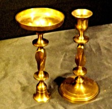 Pair Brass Metal Candle Sticks AA19-1528 Vintage image 2
