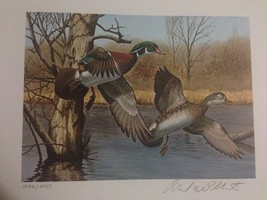 1983 New Hampshire First of State S/N Duck Stamp Print + Mint Stamp - $199.00