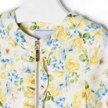 Mayoral Baby Girls Zip Front Floral Print Knit Jacket image 3