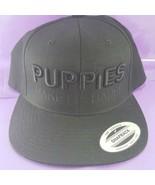 Puppies make me Happy Snap-back Black Baseball Hat Yupoong the Classics  - $19.79