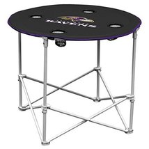 Baltimore Ravens  Collapsible Round Table with 4 Cup Holders and Carry Bag - $47.00