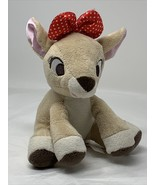 """Kids Preferred Clarice 5"""" Plush Baby Deer Rattle Rudolph Red Nosed Reind... - $8.59"""