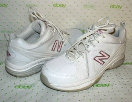 ✿ NEW BALANCE 608 Cross-Traning White Pink Shoes Sneakers 11 Wide GREAT!... - $27.54