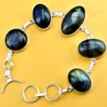 Very beautiful Labradorite Bracelet Bracelet, 925 Silver Overlay - $32.00