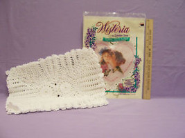 LOT 2 CROCHETED 4 PLACEMATS & VICTORIAN HEART TRANSFER - $13.85