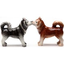 PTrading Magnetic Salt and Pepper Shaker Set, Kissing Siberian Huskies - $13.75
