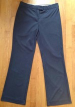 The Limited Women's Cassidy Fit Gray Flat Stretch Dress Pants Size 8 - $19.79