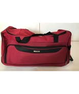 """* NEW * Tag Springfield III Luggage Red Lightweight 25"""" Rolling Duffel - $65.44"""