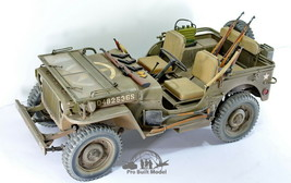 US Army Jeep Willys 1/4 Ton 4X4 Truck WW2 /w guns sets 1:6 Pro Built Model - $890.01