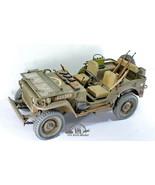 US Army Jeep Willys 1/4 Ton 4X4 Truck WW2 /w guns sets 1:6 Pro Built Model - $890.01