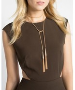 KENDRA SCOTT Gorgeous $120 PHARA Gold Tassle Necklace w/ Logo Bag 0516SS - $100.00