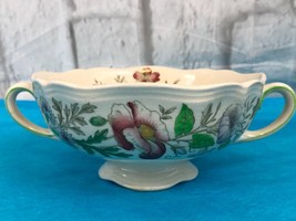 Vintage Royal Doulton STRATFORD Footed Floral Bowl Collectible - $15.90
