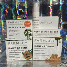 Lot Of 3 Farmacy Full Sized NEW IN BOX  Honey Potion Daily Greens Green Clean image 2
