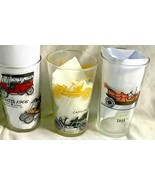 Set of 3 Hazel Atlas Drinking Glasses with Antique Cars - $12.99