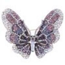 Tuliper Large Butterfly Animal Rhinestone Brooch Pins Austrian Crystal B... - $27.92