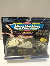 Micro Machines Star Wars Space set - Millennium Falcon , Imperial Star D... - $22.28