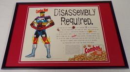 1995 Combos Pretzels 12x18 Framed ORIGINAL Vintage Advertising Display B - $65.09