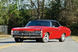 1968 Chevy Impala convetible black top | 24 x 36 INCH POSTER | sports car - $18.99