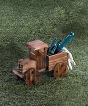 Rustic Antique Truck Wooden Planter Indoors, Patio or Porch - $28.95