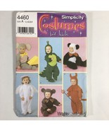 Simplicity Sewing Pattern 4460 Dragon Angel Mouse Bear Devil Costumes 1/... - $9.97