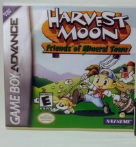 Harvest Moon Friends of Mineral Town CUSTOM GBA Replacement CASE (*No Ga... - $5.94