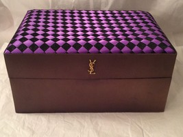 Vintage Mid Century Yves Saint Laurent YSL Black Purple Cosmetic Makeup ... - $59.00