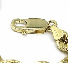 """18K YELLOW GOLD CHAIN NECKLACE 5.5 MM BIG BRAID ROPE LINK, 23.6"""", MADE IN ITALY image 3"""